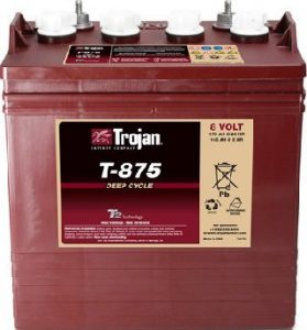 6 Trojan T-875 8V Golf cart batteries