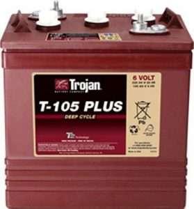 4x Trojan 6V T-105 Plus Battery