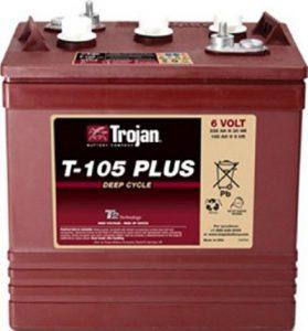 6x Trojan 6V T-105 Battery