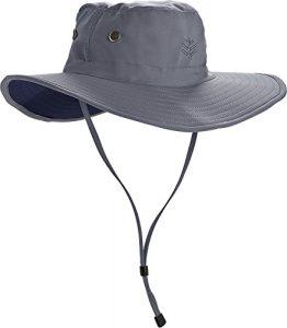 Coolibar UPF 50+ Men's Leo Shapeable Wide Brim Hat